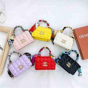 Girls Crossbody Bag One-Shoulder Bag Fashion Handbag Summer Foreign Style Silk Scarf Small Square Bags Baby Pearl Pocket Wallet G70F8MY