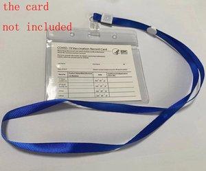 4 * Protetor de cartão de 3 polegadas PROTECTO À Prova D 'Água Arquivos Para Cartão De Negócios Para Papel CDC Vacination Cartões Clear Protective Cover