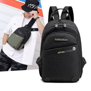 SCIONE NYLON Chest Bag Pack Vintage Men Backpack Shoulder Bags Female Male Travel Backpack Multifunction Small Bags Mens Back LJ210203