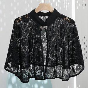 Wraps & Jackets Black Lace Wedding Shawl Bridal Bride Bolero Girls Jacket Shrugs Women Formal Evening Wrap Cape