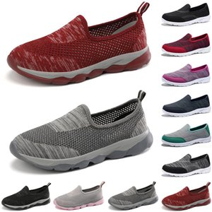top luxury women casual shoes Black red gray loafers flat slip on Breathable mens trainers sneakers size 35-42