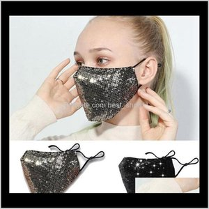 Designer Fashion Bling Mask 3D Washable Reusable Pm25 Sequins Shiny Face Cover Mount Masks Antidust Shield Eea1806 Picpq Rahpf