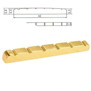 Brass Nut Flat Bottom For stratocaster telecaster Style electric guitar parts 42mm