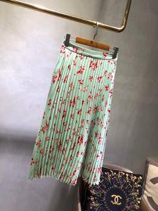 Skirts 2021 Women Fashion Sexy Pleated Print Skirt 0401