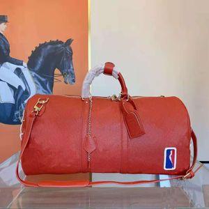 Hand Luggage Travel Duffle Bag Embossed Old Flower Handbag High Quality Lady Unisex Women Men Duffel Bags Handbags Mens 55cm