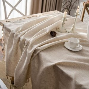 Table Cloth Tablecloth Cotton And Linen Retro Cover For Decoration Accessories Rectangle XS S M L XL XXL