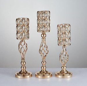 2020 Wedding props candelabra gold metel plated flower vase ware stage background creative home European furnishings wedding decorations