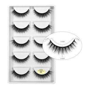 makeup tools beauty natural long eyelashes 5 pcs false eye extensions fluffy wispy fake 3d mink lashes soft thick handmade x series