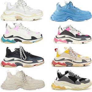 قديم أبي 17fw عارضة أحذية منخفضة منصة حذاء balencaiga الثلاثي s الأسود رجل المرأة مصمم chaussures 23RQ #