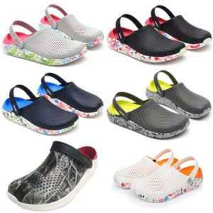 Classic Slip Garden Clog Sandals Womens Quick Drying Summer Beach Slipper Hollow Flip Flop Outdoor Shoe Mens Cross Strap shoes i8ch#