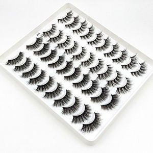 20pairs Mixed 3D Faux Mink Eyelashes DIY Natural Long False Eyelash Extension Dramatic Crossed Fluffy Lashes Makeup Tools