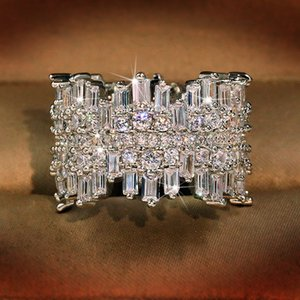 Luxury Mens Wedding Rings Fashion Stones Gemstone Engagement Ring For Women Simulated Diamond Ring Jewelry
