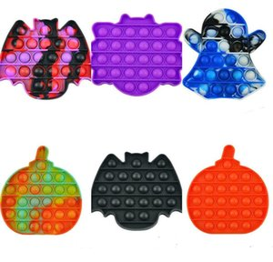 Halloween Ghost Kürbis Zappeln Spielzeug Bubble Puzzle Board Fingerangst Stress Reliever Dekompression Spielzeug