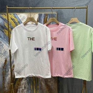 2021 diseñador de moda para hombre camiseta de lujo de verano de verano Reflexión clásica Color letra Tshirt casual de algodón TEE TOP TOPT