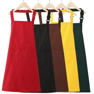 Black color 75x78cm Polyester Classic Design Work Kitchen Apron with Pocket Waterproof Couples Aprons