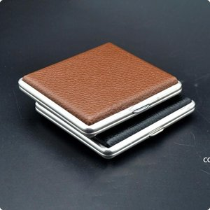 The Luxurious Metal Frosted Cigarette Case Shell Casing Storage Box High Quality Exclusive Design Portable Decorate DHE9299