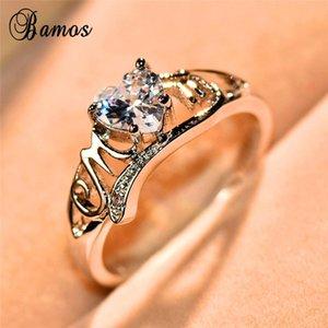 Wedding Rings Luxury Female Love Heart Ring Romantic MOM Letter Engagement Mother's Day Gift 925 Sterling Silver For Women
