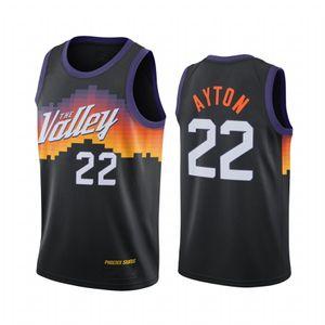 Männer Sun Dekre Ayton # 22 2020-21 Stadt Icon Statement Basketball Jersey