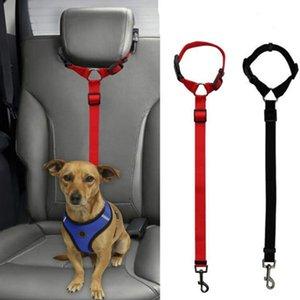 Dog Stuff Practical Dog Cat Pet Safety Adjustable Car Seat Belt Harness Leash Travel Clip Strap Lead Cat Carrier Dog Stroller