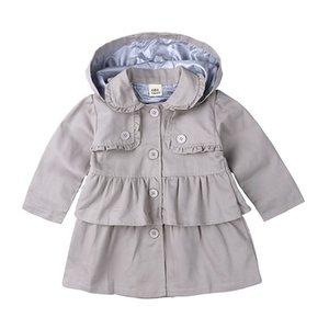 Nueva chaqueta de las niñas ropa de niños niña gabardina niños chaqueta ropa primavera Trench viento polvo prendas de abrigo