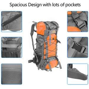 Бесплатный рыцарь SA008 60L открытый водонепроницаемый туризм кемпинг рюкзак оранжевый