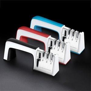 4 en 1 Aiguiseurs en alliage en acier en céramique Scissors Souffeneur Portable Portable Porte-pierre résistant à l'usure avec poignée Accessoires de Grindstone Zze5615