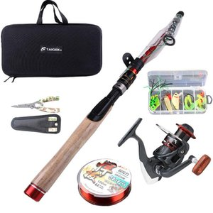 Fishing Rod Reel Combos Pole With Spinning For Adults Kids Outdoor Sport Travel Freshwater Saltwater Combo