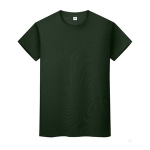 New round neck solid color T-shirt summer cotton bottoming shirt short-sleeved mens and womens half-sleeved LJ8Eio