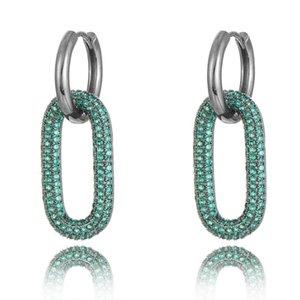Jimbora Unique Oval Earrings Bridal Cubic Zirconia Big Original Pendant Statement Fashion Jewelry Dangle & Chandelier
