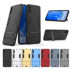 Rugged Armor Kickstand Hybrid TPU PC Phone Cases for iPhone 13 Pro Max 12 Mini 11 XR Samsung S20 S21 Ultra Note 20 A73 A52 5G M30
