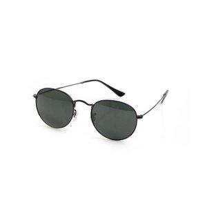 Высококачественные круглые женские солнцезащитные очки стеклянные объективы роскошные мужские солнцезащитные очки УФ-защита мужчин дизайнерские очки металлические петли мода женщины очки с коробками 447