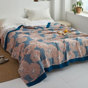 Été Coton Gauze Serviette Mousseline Couverture Mousselet Soft Plaid pour adultes sur le / Lit / Canapé / Plan / Voyage Couvre-lit Japon Couvertures de couette Japon