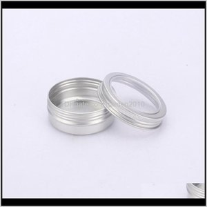 Storage & Bins 60Ml Metal Tin Container Aluminum Jar Pot With Visible Window Box Screw Lid Empty Cosmetic Boxes Quhvu B2An0