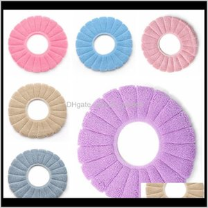 Covers Accessories Bath Home Garden Drop Delivery 2021 Seat Cover Comfortable Coral Veet Bathroom Toilet Pad Washable Closestool Standard Sol