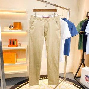 Casual Slim Fit Mens Dress Pants Streetwear Full Length Suit Pants Men 34 High Quality Gentlemen Office Trousers Men All Match WJS0142 Size 29-38