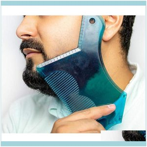 Brushes Care & Styling Tools Hair Products Innovative Design Beard Sha Tool Trimming Shaper Template Guide Shaving Or Stencil With Fl-Size C