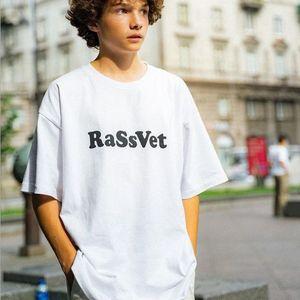 GOSHA T FORCH рубашка русских мужчин и женщин TEES студент молодежь летние с коротким рукавом моды писем печатные топы тенденции