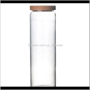Bottles Jars 1Pc Glass Sealed Can Candy Jar Storage Tank Beech Lid Canister Cafe Coffee Container Bqv2M 9Se78