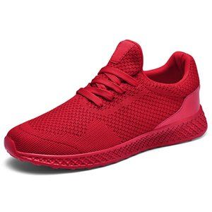 2021 Fashion men shoes mens running runner classic triple red black grey Breathable knit sneakers womens spring summer fall trainers