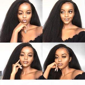 Kinky Bob Lace Front Wigs For Women Kinky Straight Lace Front Wig 360 Lace Frontal Wig Brazilian Curly Human Hair Wigs