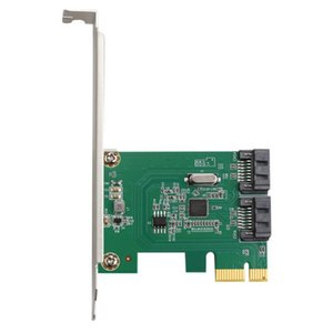 Computer Cables & Connectors ASM1061 Chip PCIe 2.0 X1 To 2 Port SATA3.0 Riser Card SATA III PCI-E Adapter 6GBPS Expansion Converter