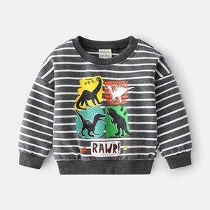 Children's Sweatshirt For Boys Clothes Kids Hoodies Cartoon Dinosaur Baby Sweatshirt Cotton Tops 2021 Spring Autumn Costume G0917