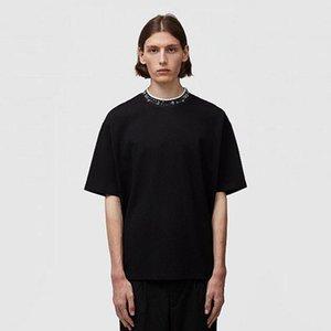 2021 AC Studios летние новые моды женские футболки хлопчатобумажные Chiara Ferrag Sequins стиль модные повседневные звезды мужская футболка с коротким рукавом