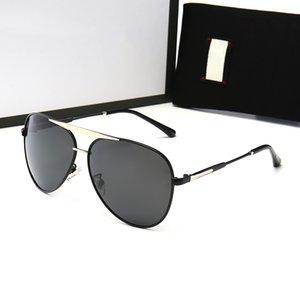 Yüksek Kalite 12 Stil Moda Erkek Tasarımcı Klasik Güneş Gözlüğü Polarize Sunglass Sürüş Gözlük UV400 Lensler Kılıflar ve Kutu ile
