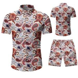 clothing manufacturer 2021 shirt summer man new hawaiian fasion shirt and shorts set mens