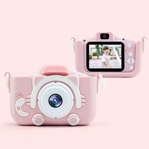 Digital With Protective Case Cartoon Pography Plastic Mini Toy USB Charging Dual Lens Children Camera 2 Inch HD Screen Sports Cameras