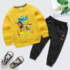 Bear Brand Luxury Designer Baby Autunno Vestiti Set Bambini Boy Girl Manica Lunga Felpa con cappuccio e Pantaloni 2PCS Suits Moda Tracksuits Autoschi