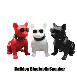 Bulldog Bluetooth Speaker Dog Head Wireless Portable Subwoofers Handsfree Stereo Bass Support TF Card USB FM Radio Loud 3 Colors DHL