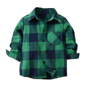 Kids Boys Shirts Spring Autumn Fashion Baby Boy Long Sleeve Cotton Plaid Shirt Casual Kids Gentleman Blouses Tops