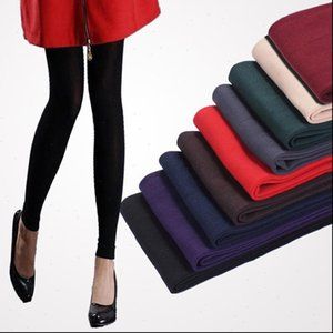 Autumn and Womens Legging Winter Leggings Black Grey Coffee Purple Green Burgundy Red Navy Blue Nude Color Women Warm Slim